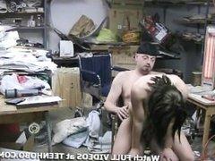 Fucking A Homeless Teen in my Garage