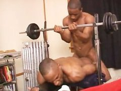 Black Dudes Working Out Suck Dicks