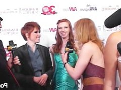 PornhubTV Lily Cade Red Carpet 2013 AVN Awards