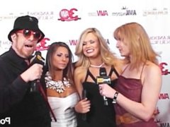 PornhubTV Madison Ivy Teal Conrad Red Carpet at 2013 AVN Awards