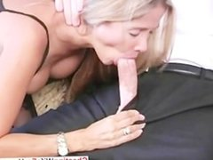 Busty MILF loves to swallow