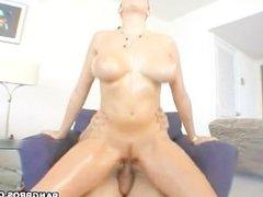 Pornstar Gianna Michaels riding cock