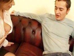 British nylon girl Gemma and pizza delivery boy Matt