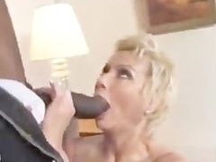 Black cum for white mom