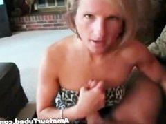 Mature blonde milf blowjob