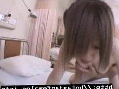 Japanese Nurse Sucks and Fucks