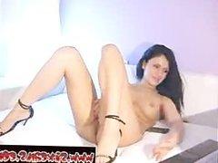 cam tube Sexy brunette fucks her favorite dildo www.sixcams.com