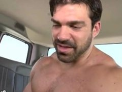 A hot buff stud is fucking a straight first timer