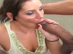 Arianna in 2 huge monster cocks butt fuck and abuse cute slut