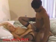 Black cock ramming sluts while she screams
