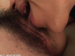 Teen asian cutie gets hairy lusty cunt licked to orgasm