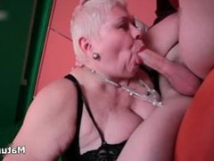 Fat old mature wife loves deepthroating part2