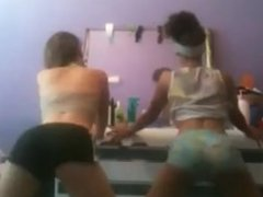 PuertoRican 2 Sister's On Cam