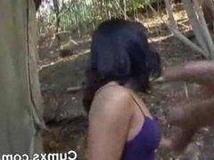 Ebony Slut Gets Cum Bath On Breasts