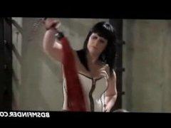 Lesbian Whip Paddle Spank And Masturbate