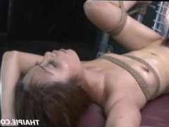 Skinny Roped Asian Likes It Rough