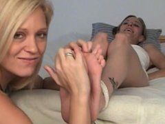 Tickling Candi's Feet