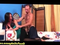 brunette gets a rough anal pounding