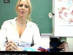 Live Naughty Teacher-Julia Ann teach bi