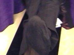 stud shows off his feet in TNT dress socks