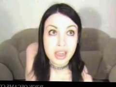Gothic Girl on Webcam by snahbrandy und
