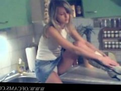 Blonde girl strips L7 pussyeater large-