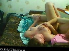 Couple having fun on webcam masturbatin