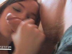 Small jugged Ivana loves tasting BFs hard dick in POV