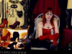 Mistress gives JOI and cum eating comman