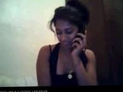 Desi girl on cam with phone slutty eden