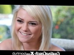 CastingCouch-X stupind whore 20yo tries porn
