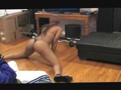 Young Black Strippers Teasing