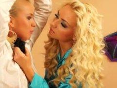 CFNM euro lesbian domination of their slave partner