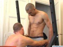 Straight arab guy getting sucked by a gay guy !