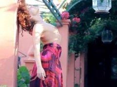 Exotic teenie posing and dancing