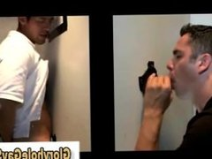 Gay bj for straight dude at gloryhole