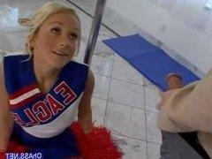 young blonde slutty cheerleader