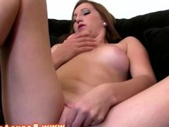 Masturbating and sucking dick at a casting