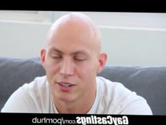 GayCastings hairless erotic dancer gets smooth firm ass loaded up on castin