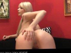 Blonde cam girl anal toy hairpulling mo