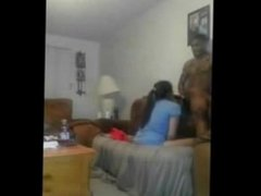 Very gifted black man gets some good head from his cute latina