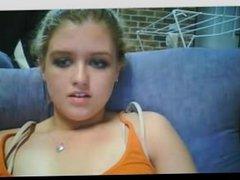 Webcam girl camgirl roundass finger new