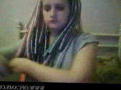Goth girl evening hood addams lesbian l