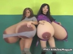 Two sexy brunette babes get horny part5