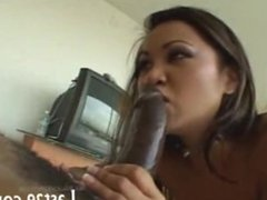 hot asian taking a huge dick in the ass