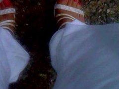 male feet puplic