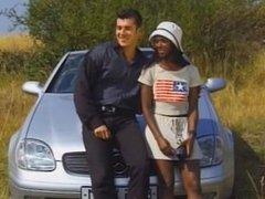 Ebony babe Bagheera interracial anal