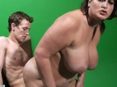 bbw Nicoletta sucking,dogging,riding,fucking on floor and cum on tits