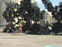 Czech Blonde Teen Naked On Public Streets