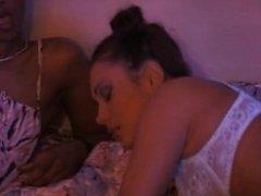 Ebony Bagheera in interracial ffm anal threesome